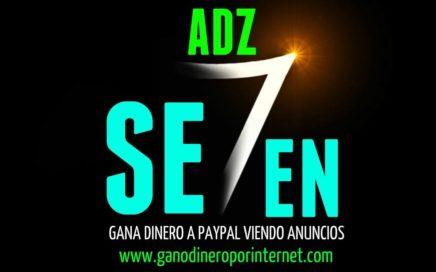 AdzSeven | Gana DINERO A PAYPAL Viendo Anuncios