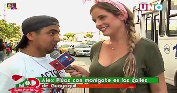 ALEX PLUAS con MONIGOTE en LAS CALLES de GUAYAQUIL
