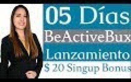 BEACTIVEBUX - $20.00 DÓLARES DE BONUS POR REGISTRARTE PRELANZAMIENTO - NUEVA PÁGINA 2018