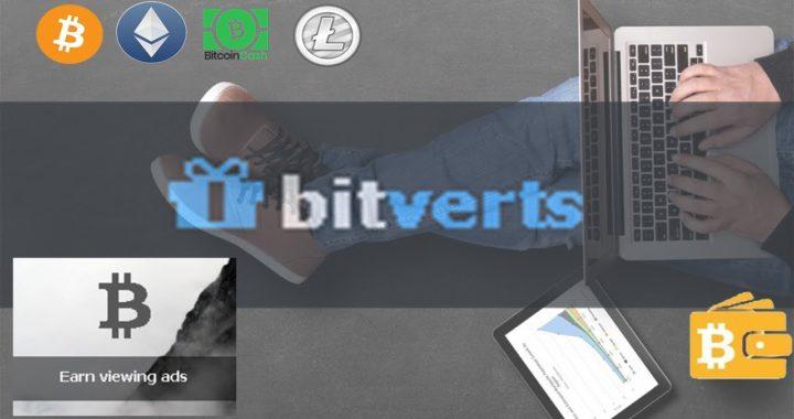 BITSVERTS - Gana BTC,ETH,BCH & LTC Viendo Anuncios Y Videos *Buenas Ganancias*