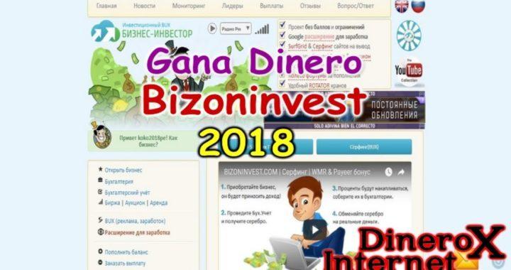 BIZONINVEST GANA RUBLOS GRATIS A PAYEER 2018