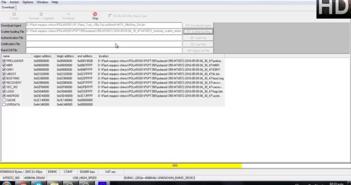 cargar software, revivir o desbrickear polaroid pspt350 #24
