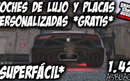COCHES LUJO GRATIS - PLACA PERSONALIZADA GRATIS - GTA 5 - AUTOS EXPORTACIÓN GRATIS - (PS4 - XB1)
