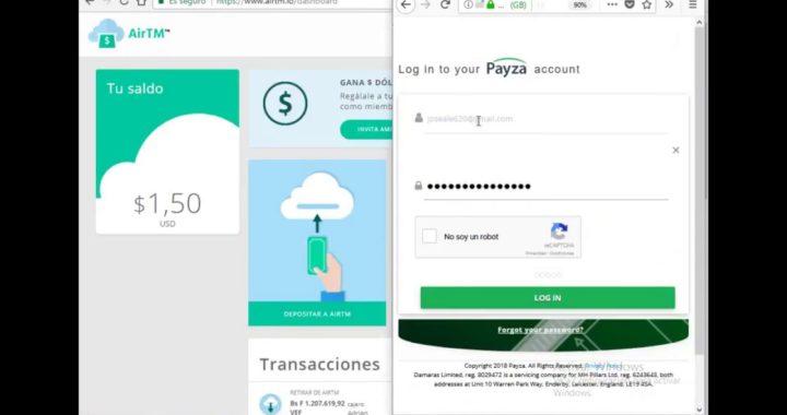 como enviar dinero de payza a airtm