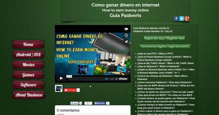 Como ganar dinero en internet / How to earn money online - Guía Paidverts Numero 01