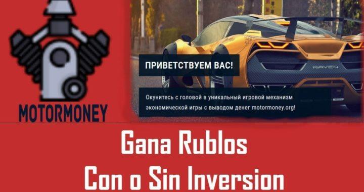 COMO GANAR DINERO EN MOTOR MONEY