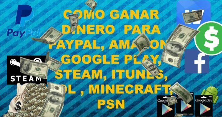 COMO GANAR DINERO FÁCIL SIN HACER NADA |PROBANDO APLICACIONES|PAYPAL|AMAZON| GOOGLE PLAY|  2018