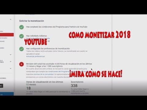 Como Monetizar Tus Vídeos de youtube En El 2018 Gana dinero con youtube monetizando