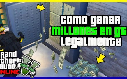 "COMO OBTENER MUCHO DINERO LEGAL EN ""GTA V ONLINE"" AFK MONEY GLITCH"