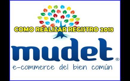 Como registrase en Mudet 2018