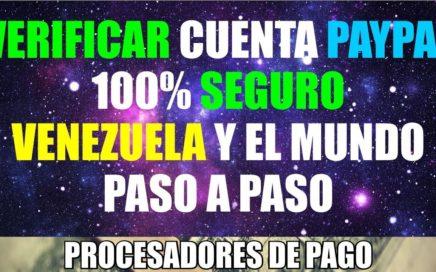 Como Verificar una Cuenta Paypal Con Uphold Para venezuela y el mundo 100% Seguro