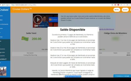 CRUISE DOLLARS | SALDO DISPONIBLE | GANA DINERO VIAJANDO