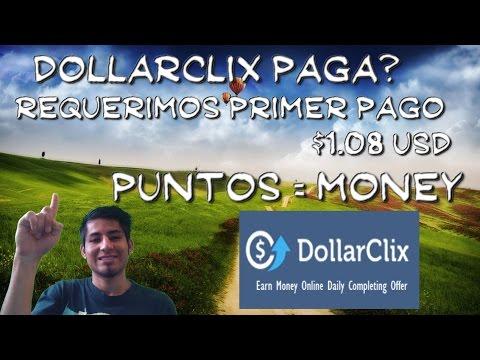 dollarclix paga $1.08 (llego el primer pago) GANAR DINERO PARA PAYPAL 2017