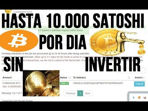 GANA 10000 Satoshis SIN Limite De Tiempo + PRUEBA DE PAGO  PAGANDO DESDE 2016
