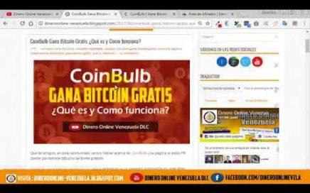 Gana 60.000 satoshis por mes Gratis con CoinBulb [Gana Dinero por Internet] NUEVA PAGINA 2018