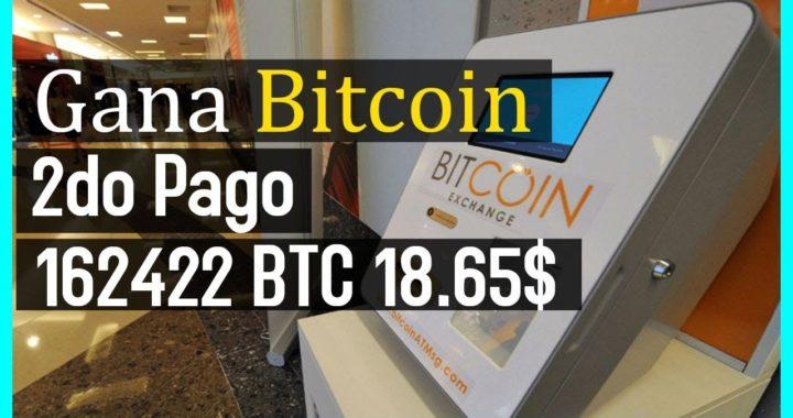 Gana Bitcoin de forma Sencilla [2do Pago 18.65$ 162422 BTC] Pagando desde el 2015