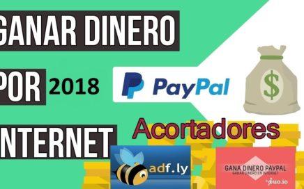 GANA DINERO 2018 COBRA POR PAYPAL ACORTANDO URL FÁCIL