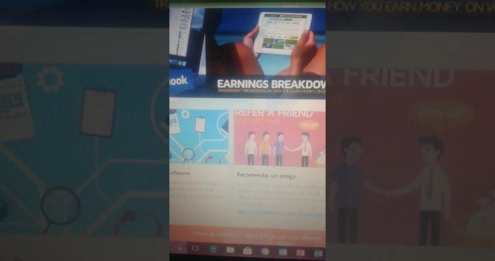 Gana dinero con earn money | Desde tu computadora | Fácil y todo el trabajo lo hace tu pc
