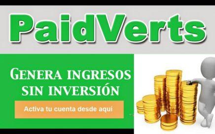 GANA DINERO CON PAIDVERTS!!! GRATIS Y PAGINA RENOVADA!!