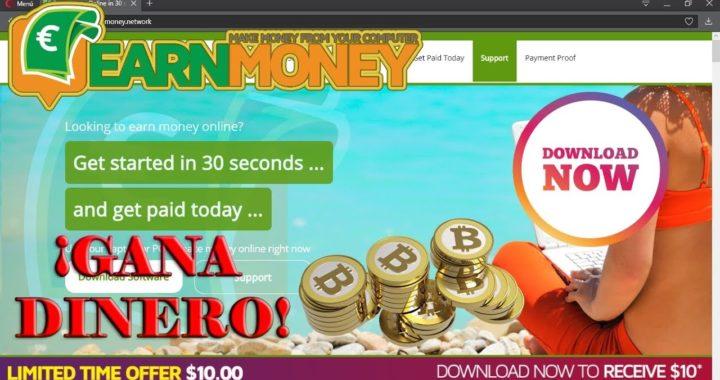 ¡Gana Dinero de manera automática con Earn Money en Venezuela + 10$ GRATIS!