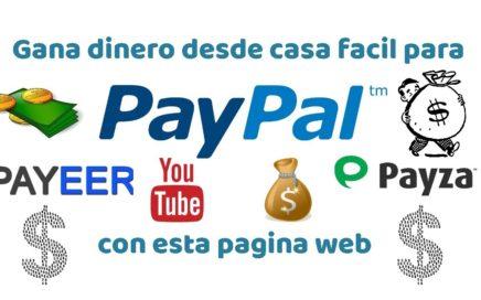 ¡Gana dinero fácil desde tu casa! para paypal,payeer,payza y mucho mas.... con esta pagina web