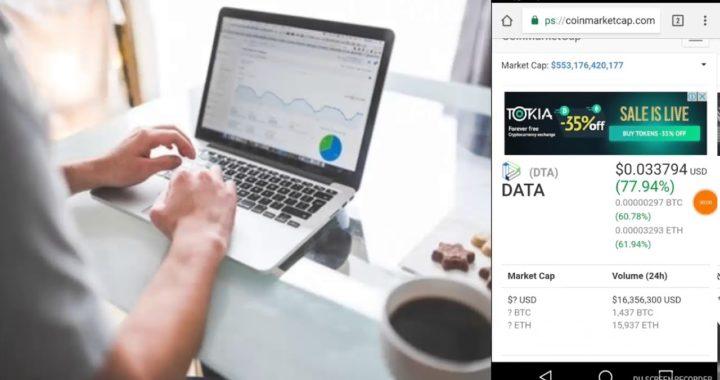 Gana dinero gratis facil y rapido Datacoin CoinMarketCap subiendo
