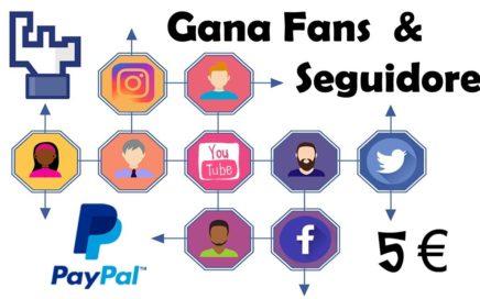 Gana dinero + Popularidad en tus redes sociales con Fancitos (Comparte un clic)