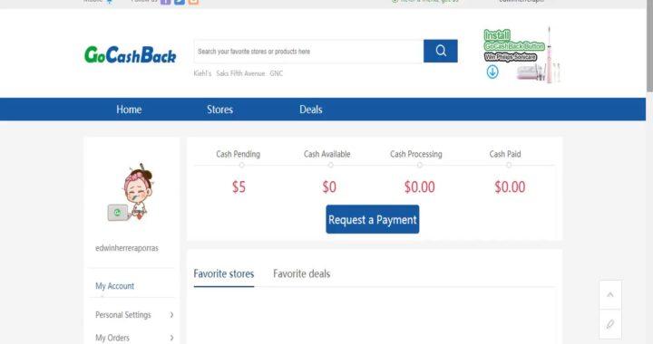 gana dinero por Internet con GoCashback por registrarte 5 dolares!!