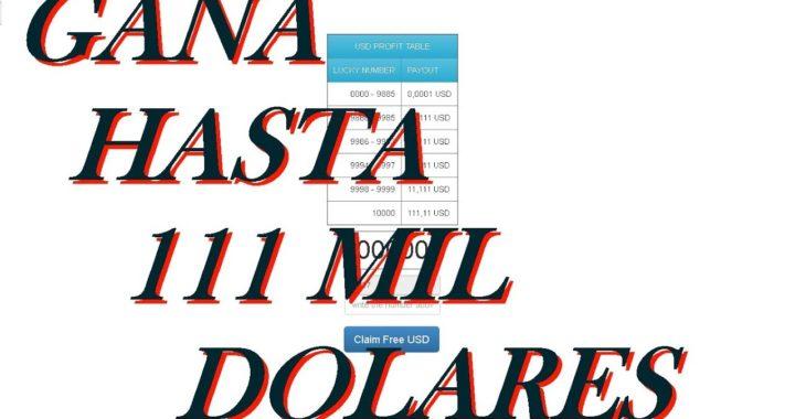 GANA HASTA $111 MIL DOLARES CADA 5 MINUTOS