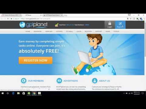 Ganar Chorro De Dinero para PayPal/GPTPlanet ¿Que es y Como Funciona?Nueva ptc 2018)