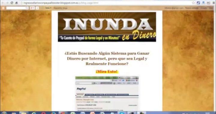 GANAR DOLARES POR INTERNET CON PAYPAL BOOSTER EN ESPAÑOL 2017
