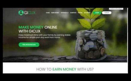 GiClix 5 Formas de Ganar Dolares desde casa $$$ (PASO A PASO)