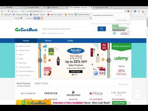 Gocashback gana dinero por internet sin invertir solo por referir