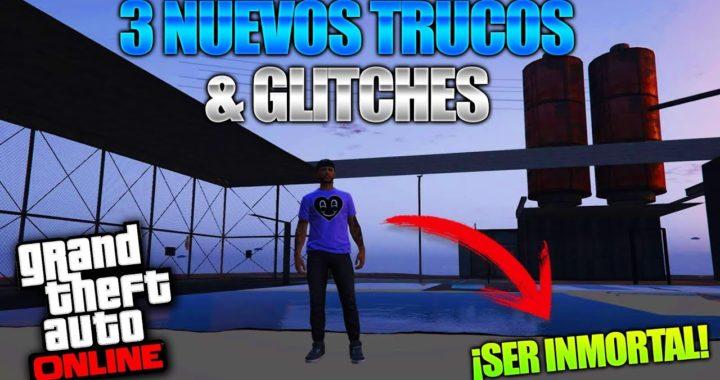 GTA 5 Online - 3 NUEVO TRUCOS & GLITCHES 1.42! (Crear Tu Propia Camiseta, Ser Inmortal & Mas!)
