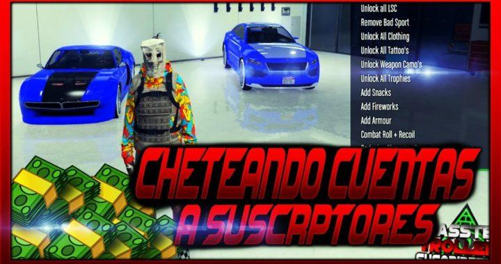 GTA V ONLINE - CHETEANDO CUENTAS A SUSCRIPTORES! #2