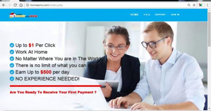 HOMEARNS-Ganar 1$ Por cada Persona que se Registre de tu Link Paga por Paypal, Payza