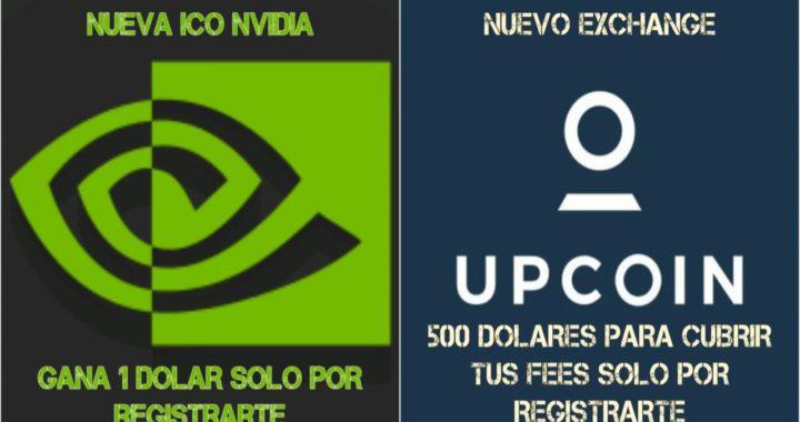 ICO NVIDIA GANA 1 DOLAR solo por REGISTRARTE, nuevo exchange UPCOIN