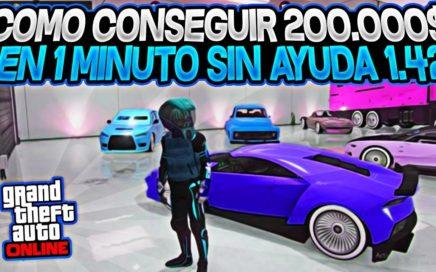 INCREIBLE! COMO GANAR *200.000$ EN 1 MINUTO* SOLO SIN AYUDA! GTA 5 ONLINE 1.42