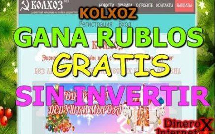 KOLXOZ GANA RUBLOS GRATIS A PAYEER | PRUEBA DE PAGO |