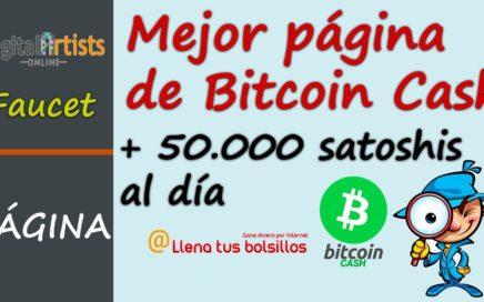 La mejor faucet de Bitcoin Cash | Gana más de 50.000 satoshis al día gratis