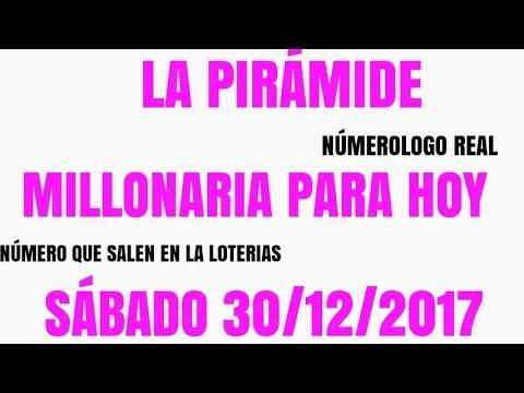LA PIRÁMIDE MILLONARIA NÚMERO PARA HOY SABADO 30 DE DICIEMBRE DEL 2017