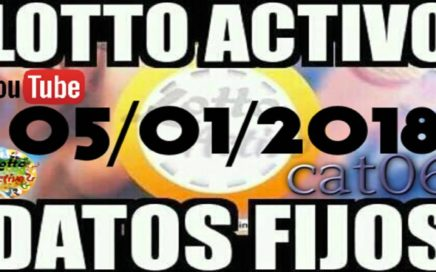LOTTO ACTIVO DATOS FIJOS PARA GANAR  05/01/2018 cat06