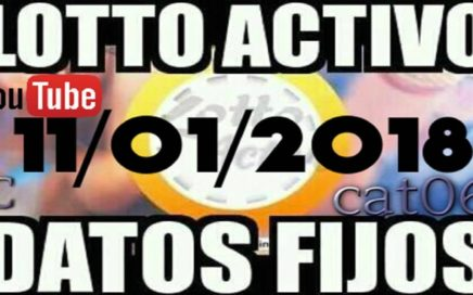 LOTTO ACTIVO DATOS FIJOS PARA GANAR  11/01/2018 cat06
