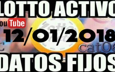 LOTTO ACTIVO DATOS FIJOS PARA GANAR  12/01/2018 cat06