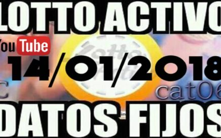 LOTTO ACTIVO DATOS FIJOS PARA GANAR  14/01/2018 cat06
