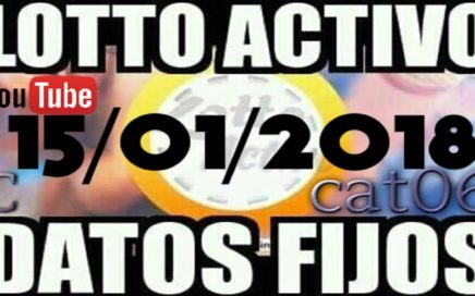 LOTTO ACTIVO DATOS FIJOS PARA GANAR  15/01/2018 cat06
