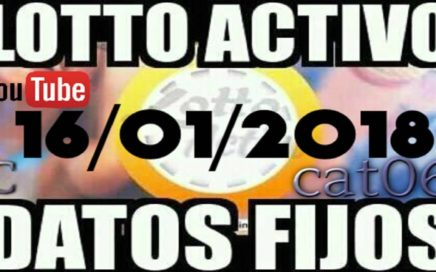 LOTTO ACTIVO DATOS FIJOS PARA GANAR  16/01/2018 cat06
