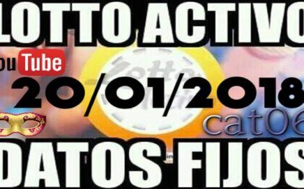 LOTTO ACTIVO DATOS FIJOS PARA GANAR  20/01/2018 cat06