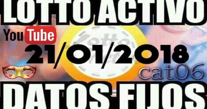 LOTTO ACTIVO DATOS FIJOS PARA GANAR  21/01/2018 cat06
