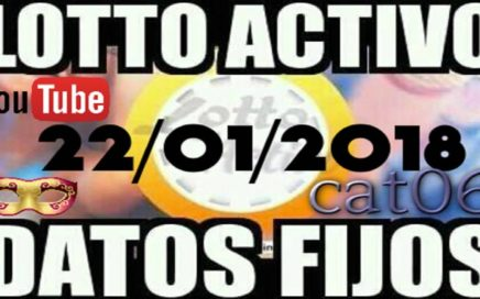 LOTTO ACTIVO DATOS FIJOS PARA GANAR 22/01/2018 cat06